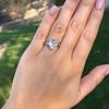 3.24ct Antique Pear Shape Diamond Ring, GIA I VS2 2