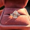 3.24ct Antique Pear Shape Diamond Ring, GIA I VS2 9