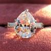 3.24ct Antique Pear Shape Diamond Ring, GIA I VS2 0