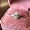 3.24ct Antique Pear Shape Diamond Ring, GIA I VS2 4