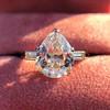 3.24ct Antique Pear Shape Diamond Ring, GIA I VS2 5