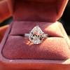 3.24ct Antique Pear Shape Diamond Ring, GIA I VS2 18