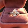3.24ct Antique Pear Shape Diamond Ring, GIA I VS2 17
