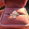 3.24ct Antique Pear Shape Diamond Ring, GIA I VS2 10