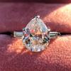 3.24ct Antique Pear Shape Diamond Ring, GIA I VS2 7