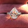 3.24ct Antique Pear Shape Diamond Ring, GIA I VS2 13