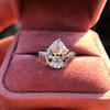 3.24ct Antique Pear Shape Diamond Ring, GIA I VS2 11