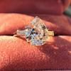 3.24ct Antique Pear Shape Diamond Ring, GIA I VS2 8
