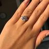 3.24ct Antique Pear Shape Diamond Ring, GIA I VS2 14