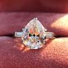 3.24ct Antique Pear Shape Diamond Ring, GIA I VS2 6