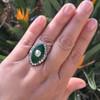 3.34ctw Georgian-era Cushion Cut Diamond and Enamel Ring 26