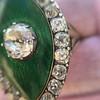 3.34ctw Georgian-era Cushion Cut Diamond and Enamel Ring 17