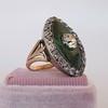 3.34ctw Georgian-era Cushion Cut Diamond and Enamel Ring 5