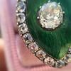 3.34ctw Georgian-era Cushion Cut Diamond and Enamel Ring 13