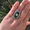 3.34ctw Georgian-era Cushion Cut Diamond and Enamel Ring 27