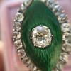 3.34ctw Georgian-era Cushion Cut Diamond and Enamel Ring 7