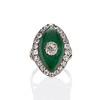3.34ctw Georgian-era Cushion Cut Diamond and Enamel Ring 0