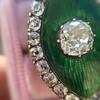 3.34ctw Georgian-era Cushion Cut Diamond and Enamel Ring 11