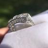 3.46ctw Edwardian 3-Stone Old European Cut Diamond Ring 14