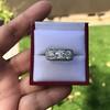 3.46ctw Edwardian 3-Stone Old European Cut Diamond Ring 8