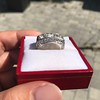 3.46ctw Edwardian 3-Stone Old European Cut Diamond Ring 3
