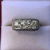 3.46ctw Edwardian 3-Stone Old European Cut Diamond Ring 2