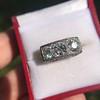 3.46ctw Edwardian 3-Stone Old European Cut Diamond Ring 11