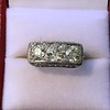 3.46ctw Edwardian 3-Stone Old European Cut Diamond Ring 6