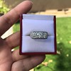 3.46ctw Edwardian 3-Stone Old European Cut Diamond Ring 7