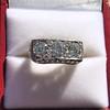 3.46ctw Edwardian 3-Stone Old European Cut Diamond Ring 5