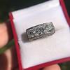 3.46ctw Edwardian 3-Stone Old European Cut Diamond Ring 12