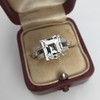 3.64ct Antique Carre Cut Art Deco Diamond Ring GIA J VS 31