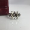 3.64ct Antique Carre Cut Art Deco Diamond Ring GIA J VS 37