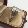 3.64ct Antique Carre Cut Art Deco Diamond Ring GIA J VS 33