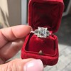 3.64ct Antique Carre Cut Art Deco Diamond Ring GIA J VS 41