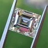 3.64ct Antique Carre Cut Art Deco Diamond Ring GIA J VS 24