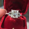 3.64ct Antique Carre Cut Art Deco Diamond Ring GIA J VS 2
