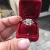 3.64ct Antique Carre Cut Art Deco Diamond Ring GIA J VS 40