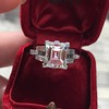 3.64ct Antique Carre Cut Art Deco Diamond Ring GIA J VS 38