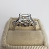 3.64ct Antique Carre Cut Art Deco Diamond Ring GIA J VS 4