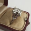 3.64ct Antique Carre Cut Art Deco Diamond Ring GIA J VS 32