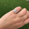 3.64ct Antique Carre Cut Art Deco Diamond Ring GIA J VS 18