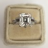 3.64ct Antique Carre Cut Art Deco Diamond Ring GIA J VS 1