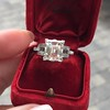 3.64ct Antique Carre Cut Art Deco Diamond Ring GIA J VS 46