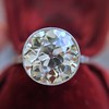 3.45ct Edwardian Old European Cut Diamond Bezel Ring 18
