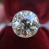 3.45ct Edwardian Old European Cut Diamond Bezel Ring 2