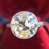 3.45ct Edwardian Old European Cut Diamond Bezel Ring 16