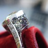 3.45ct Edwardian Old European Cut Diamond Bezel Ring 7