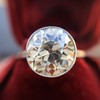 3.45ct Edwardian Old European Cut Diamond Bezel Ring 12