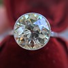 3.45ct Edwardian Old European Cut Diamond Bezel Ring 8